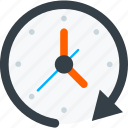 clock, communication, interaction, interface, loading icon icon