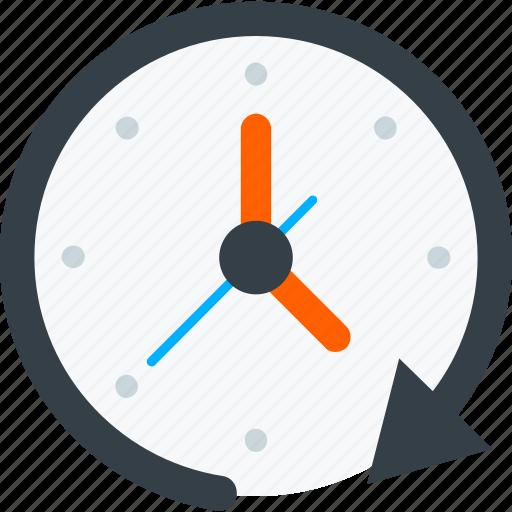 clock, communication, interaction, interface, loading icon icon