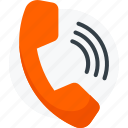 call, old, phone, receptor, signal, vintage icon icon