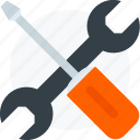 screwdriver, tools, wrench icon icon