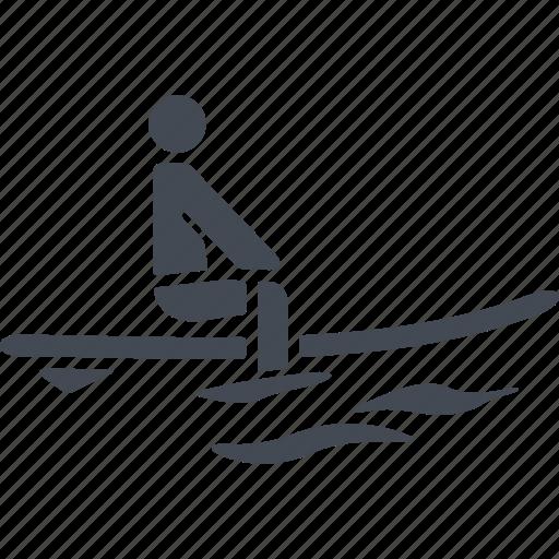 gliding, sea, sport, surfboarder, surfing, wave, wind speed icon