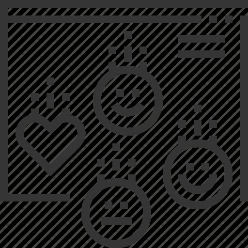 analyse, dislike, feedback, like, research, service, test icon