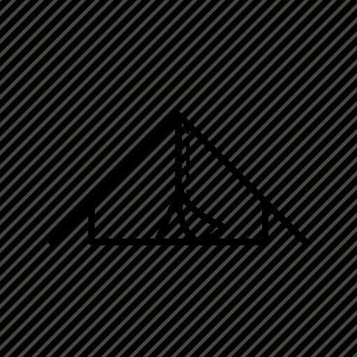survival, tent icon