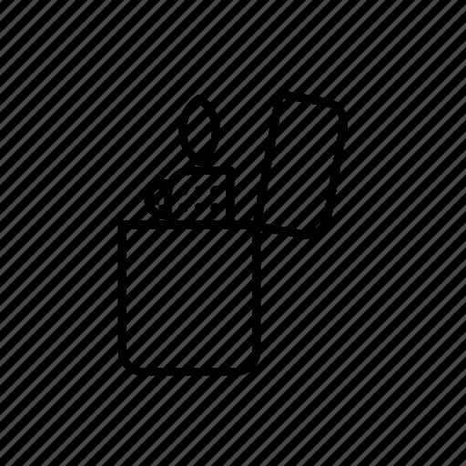 fire, lighter, survival icon