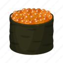 caviar, food, rice, seafood, sushi icon
