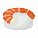 food, rice, seafood, shrimp, sushi icon