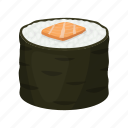 food, rice, seafood, sushi icon