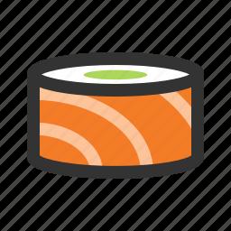 roll, salmon, sushi icon