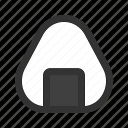 ball, onigiri, rice icon