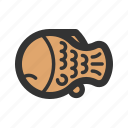 bread, cake, fish, taiyaki icon