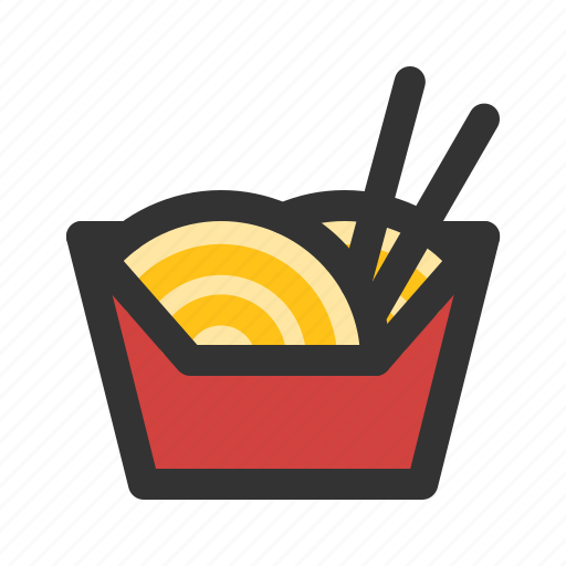 box, chinese food, noodle, ramen icon