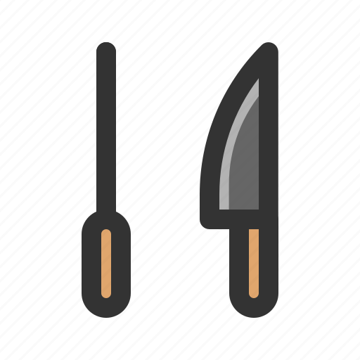 cooking, kitchen, knife, sharpener icon