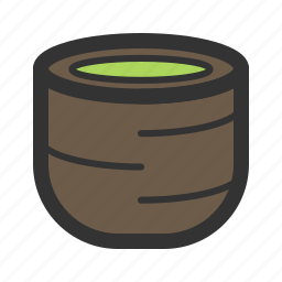 green, matcha, tea icon