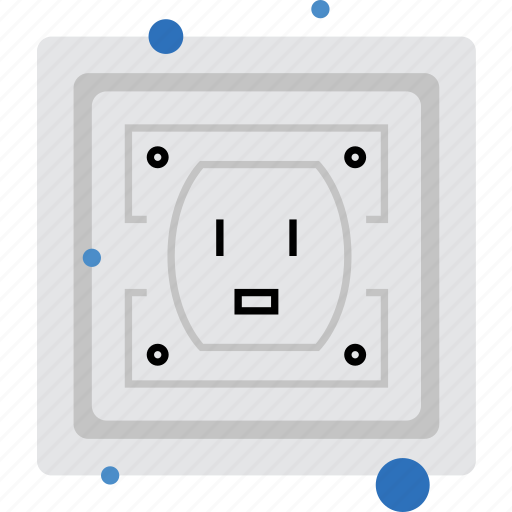 electrical, electricity, jack, outlet, power, socket, voltage icon