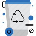 bin, garbage, recycle, recycling, reuse, trash, waste icon