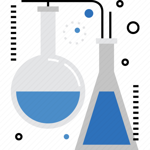 chemical, chemistry, experiment, glasses, lab, reaction, test icon