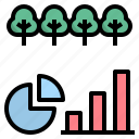 area, data, forest, information, statistic icon