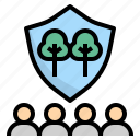 community, forest, guard, protect, volunteer icon