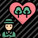 conservation, forest, forestor, ranger, volunteer icon
