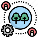 forest, forestor, governance, management, operation icon