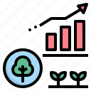 data, forest, growth, increase, operation icon