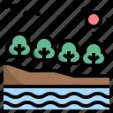 abundance, ecosystem, environment, forest, landscape icon