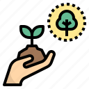 afforest, forest, preservation, replanting, sprout icon