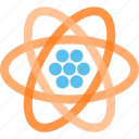 atom, atomic, electron, lithium, neutron, nucleus, proton icon