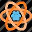 atom, atomic, electron, lithium, neutron, nucleus, proton icon