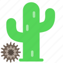 cactus, desert, lonely, southwest, tumbleweed, western icon