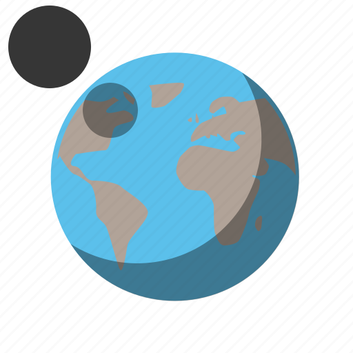 earth, earth and moon, globe, moon, moon orbit, world icon