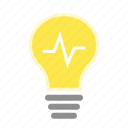 bright, bulb, electricity, flash, idea, lightbulb icon