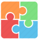 challenge, complex, fit, pieces, puzzle, puzzle piece icon