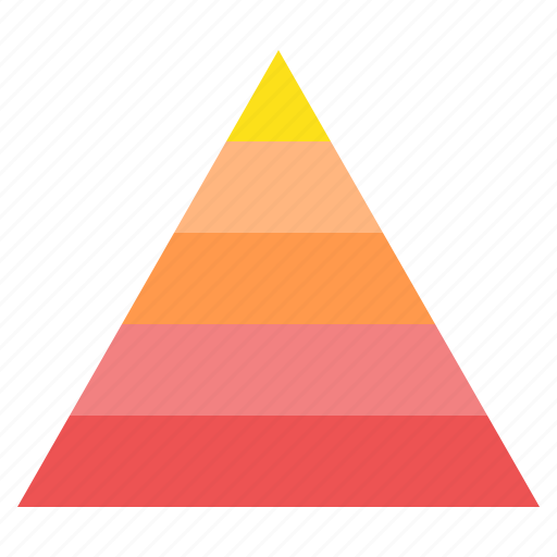 hierarchy, layers, pyramid, shape, stacked, triangle icon