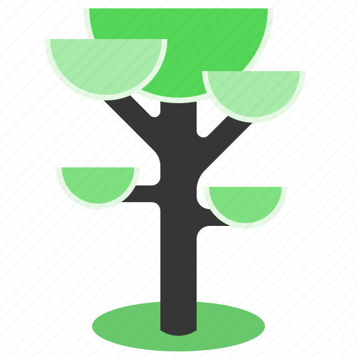 ecosystem, flat design, foliage, spring, tree icon