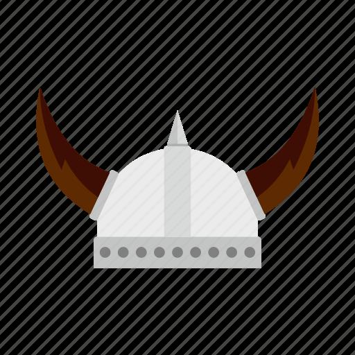 armor, hat, helmet, horn, old, viking, warrior icon