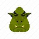 animal, creature, fantasy, halloween, head, monster, troll icon