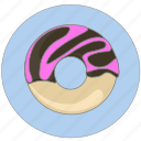 bakery, donut, doughnut, eat, food, sweet icon, vegetable icon