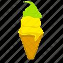 cup cone, cake cone, cone, ice cream, frozen dessert, icecream, ice icon