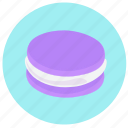 cream, dessert, food, macaroon, macaroons, sweet icon, vegetable icon