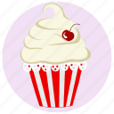birthday, cake, cupcake, dessert, muffin, muffin icon, pink icon icon
