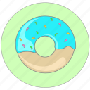 bakery, birthday, dessert, donut, doughnut, food, sweet icon icon