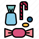 candies, candy, dessert, sweets, toffee icon