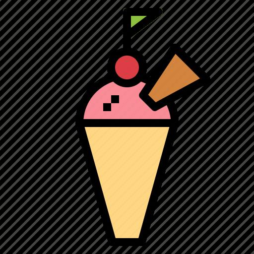 cone, dessert, ice cream, ice cream cone icon
