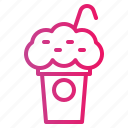 coffee shop, frappe icon