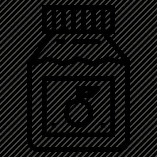 breakfast, jam, jar, orange icon
