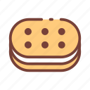 biscuit, sweet icon