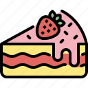 cake, cheesecake, delicious, dessert, food, strawberry, sweet icon