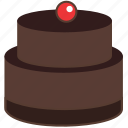 black forest, cake, cherry, chocolate, sweet icon