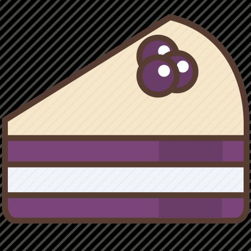 blueberry, cake, cream, dessert, sweet, white icon
